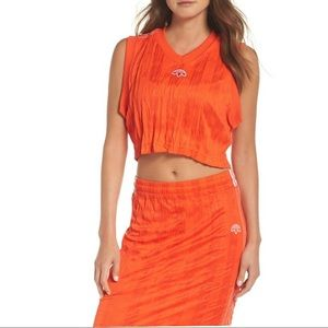 Adidas Originals by Alexander Wang Orange Crop Top